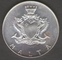 MALTA 2 LIRE MALTESE 1973 IL BIEB TAL IMDINA AG SILVER - Malta
