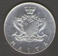MALTA 2 LIRE MALTESE 1972 AG SILVER - Malta