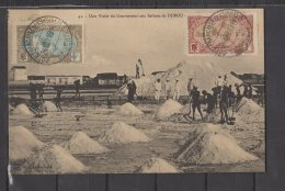 Cotes Des Somalis - Djibouti - Une Visite Du Gouverneur Aux Salines - N° 67 Et 69 Obli/sur Carte - 1919 - Somalie