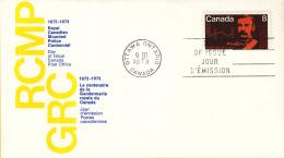 Canada - FDC 09-03-1973 - 100 Jahre Königlich-Kanadische Berittene Polizei (RCMP) - M 521-523 - Omslagen Van De Eerste Dagen (FDC)