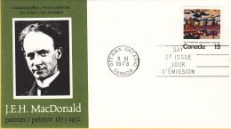 Canada - FDC 08-06-1973 - 100. Geburtstag Von James E. H. MacDonald - M 526 - Omslagen Van De Eerste Dagen (FDC)