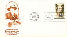 Canada - FDC 29-08-1973 - 100. Geburtstag Von Nellie McClung - M 531 - Omslagen Van De Eerste Dagen (FDC)