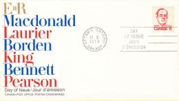 Canada - FDC 17-10-1973 - Freimarken - Lester B. Pearson - M 539A - Omslagen Van De Eerste Dagen (FDC)
