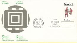Canada - FDC 28-11-1973 - Indianer (IV) - Kunsthandwerk Und Lebensweise Der Algonkin-Indianer - M 545-546 - Omslagen Van De Eerste Dagen (FDC)