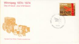 Canada - FDC 03-05-1974 - 100 Jahre Stadt Winnipeg - M 559 - Omslagen Van De Eerste Dagen (FDC)