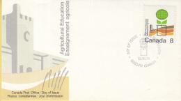 Canada - FDC 12-07-1974 - 100 Jahre Ontario-Landwirtschaftsschule - M 566 - Omslagen Van De Eerste Dagen (FDC)