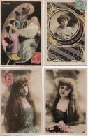 1154. LOT DE 4 CPA ARTISTES ACTRICES 1900 GABRIELLE ROBINNE. COMEDIE FRANCAISE - Artistes