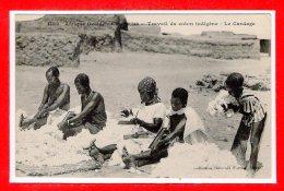 SOUDAN -- Travail Du Coton Indigène - Le Cardage - Soudan