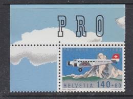 Switzerland 1988 Pro Aero (corner) 1 V ** Mnh  (29855A) - Nuevos