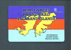 FALKLAND ISLANDS  -  Remote Phonecard As Scan/Military Use Only - Falkland