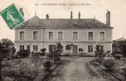 CPA     -     PONTVALLAIN     -     CHATEAU DE  MONTLOUIS - Pontvallain