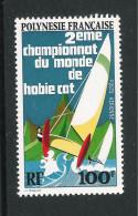 POLINESIA FRANCESE-1974: Valore Nuovo Stl Da 100 F. Di P.A. -2° CAMPIONATO DEL MONDO DI BARCHE A VELA -in Ottime Condiz. - Posta Aerea