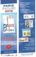 MARQUE PAGE - PARIS PHILEX 2016 - Marque-Pages