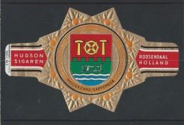 Sigarenringen. Hudson Sigaren Roosendaal Holland. Wapenringen -Hoogezand/Sappemeer- Serie VI. No.2. Sigarenband. 2 Scans - Sigarenbandjes