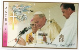 Papa Giovanni Paolo II Nel Belize 1986 - Belize (1973-...)