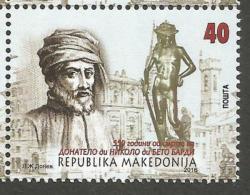 MK 2016-751 DONATELO DI NIKOLO DIBETO, MAKEDONIA, 1 X 1v, MNH - Mazedonien