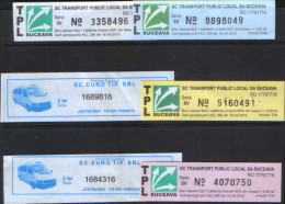 Romania - 6 Bus Tickets, For Journey 2015 - Busse