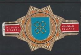 Sigarenringen. Hudson Sigaren Roosendaal Holland. Wapenringen - Sittard -. Serie VI. No.9 - Sigarenbandjes. 2 Scans - Sigarenbandjes