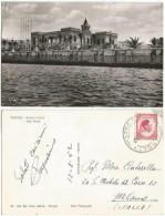Libya Banca D'Italia Bank Building B/w PPC Tripoli 13aug1952 X Italy With Regular 12m Solo - Libia