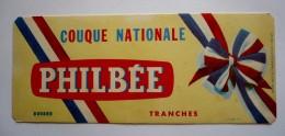 SUPERBE BUVARD 20 X 8 -  PHILBEE   - Couque Nationale - Cocarde   Tricolore - Pain D'épices