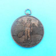 TENNIS MEDAL ( Croatian Antique Tennis Medal From 1929.  ) * Sport Medaille Tenis RRR - Apparel, Souvenirs & Other
