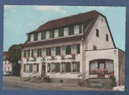67 BAS RHIN - CP COLORISEE URMATT - L'HOTEL RESTAURANT DE LA CHASSE PROPR. J.-G. RUFFENACH - CIM N° Ac 469 - 1975 - France