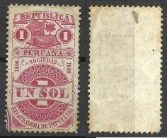 PERU 1896/98 Old Stamp O - Pérou