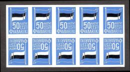 1968 Estonia Repüblik 50 Years  Of Estoniain Exile Vignettes Sheet Of 10 - Estonia