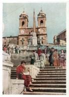 Spain Square - Rome - European Views - 1958 - Italy - Unused - Italia