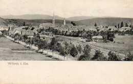 CPA - WOERTH (67) - Aspect De L'entrée Du Bourg Et De La Ligne De Chemin De Fer En 1908 - Wörth