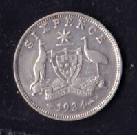 Australia 1936 Sixpence GF - Moneda Pre-decimale (1910-1965)