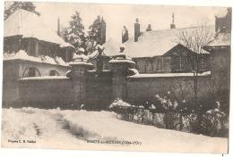 -21- SEMUR EN AUXOIS Château Sous La Neige  écrite  TTBE - Semur
