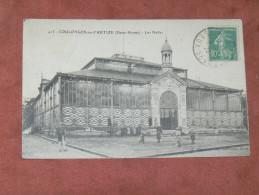 COULONGES SUR AUTIZE   1910   LES HALLES   EDIT  CIRC OUI - Coulonges-sur-l'Autize