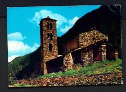 ANDORRA  -  Canillo  Church Of Saint John Of Casellas   Used Postcard As Scans - Andorra