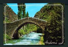 ANDORRA  -  La Massana  Roman Bridge  Used Postcard As Scans - Andorra