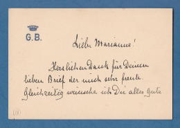 209631 / Visiting Card Carte De Visite Visitenkarte - CROWN G.B. - Great Britain Grande-Bretagne - Visiting Cards