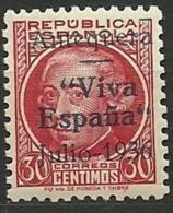 ESPAÑA GUERRA CIVIL EMISIONES LOCALES PATRIOTICAS REPUBLICANOS  ANTEQUERA 10  ** MNH - Emisiones Nacionalistas