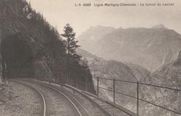CP Ligne Martigny-Chamonix Le Tunnel Du Lachat - Ferrovie