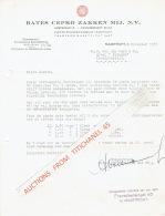 MAASTRICHT 1937 - BATES CEPRO ZAKKEN MIJ. - Pays-Bas