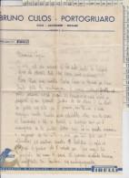 LETTERA PIRELLI PNEUMATICI PER BICICLETTA BRUNO CULOS PORTOGRUARO 1950 - Documenti Storici