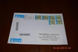 Busta Affrancata Con 6 Francobolli Uguali - Belgium