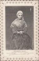 CANIVET 19° Siècle...Bernadette à 14 Ans D'après Son 1er Véritable Portrait En Prière... Dentelle - Devotion Images