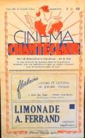 PROGRAMME Du Cinéma Chanteclair Du 20 Au 26 Juillet 1949 - En L'Etat - - Programs