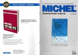 Briefmarken Rundschau MICHEL 5/2016 Neu 6€ New Stamps Of The World Catalogue/ Magacine Of Germany ISBN 978-3-95402-600-5 - Badges