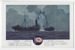CPA Messageries Maritimes BASQUE Torpillé  3012 - Dampfer