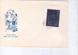 Sharjah 1971-Baden Powel- Scoutisme-MI 940A-Argent Sur FDC - Scouting
