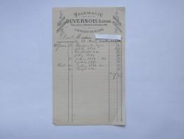 BRAZEY-EN-PLAINE (21): Facture 1894 Pharmacie DUVERNOIS - France