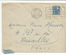 OBLITERATION MECANIQUE SUR LETTRE DE VERSAILLES DU 4/5/1929  FETES DE NUIT - Marcophilie (Lettres)