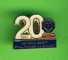 PIN'S - ASSOCIATION CLUB OPTIMISTE - 20 ANS DE DÉVOUEMENT 1981-2001 - ST ALPHONSE DE GRANBY, QUÉBEC - - Associations