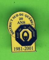 PIN'S - ASSOCIATION CLUB OPTIMISTE - 1981-2001 DISTRICT SUD DU QUÉBEC, 20 ANS  AMI DE LA JEUNESSE - - Associations